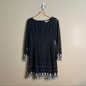 Genet Vivien black embroidered dress 9 3c13